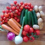 A casa una cassetta di verdura bio e km zero