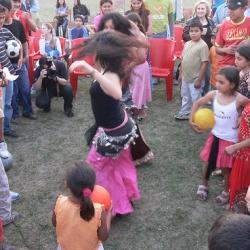 Festa al campo nomadi